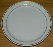 1991 Bread Salad Plate 6 Mayer China Delta Airlines First Class Gold Trim