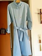 Vintage 1960and039s Sport Ease Fashion Canada One Size Powder Blue Trenchcoat 69