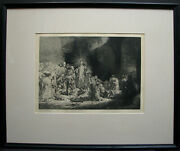 Christ Healing The Sick Etching After Rembrandt - Superb Modern Etching Copy