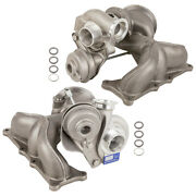 Pair Turbo Kit With Turbocharger Gaskets For Bmw 1m 135i 335i And Z4 New