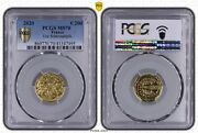 2020 France 200 Euros The Smurfs Together Gold Coin Pcgs Ms70