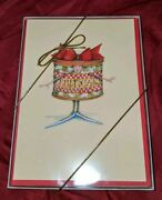Dept 56 Christmas Krinkles Patience Brewster 10 Greeting Cards Holiday Fruitcake