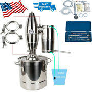 Usa 20l Water Alcohol Distiller Home Brew Equipment Kit Wine Make Stainless