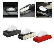 Auto Pu Leather Tissue Box Napkin Holder Paper Storage For Home Office