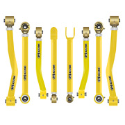Core 4x4 Adjustable Control Arms Tier 4 Complete Set Fits Jk - Yellow