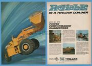1969 Yale Towne Trojan Articulated Loader Tractor Shovel Color Photo Print Ad