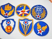 Lot Of 15 Ww2/wwii Us Army Air Force Usaaf Uniform Shoulder Patches