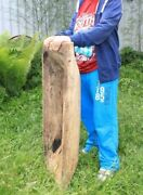 31early Primitive Farm Wooden Carved Bread Dough Bowl Trough Trencher 80cm