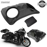Unpainted Dual 8and039and039 Speaker Lids Fits Advanblack/harley Chopped Tour Pak Pack