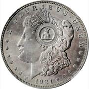 1971 Western Reserve Numismatic Club Counter-stamp - 1921 Morgan Dollar Ngc Ms63