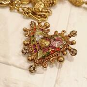 Christian Lacroix Brooch Heart-shaped Used Vintage Rare Fashion Jewelry Pins