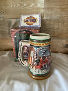 Vintage Budweiser Beer Stein 1997 Home For The Holidays Collectible Mug Cs313