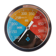 3 Bbq Smoker Thermometer Barbecue Cooking Oven Temperature Gauge 100-550℉