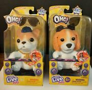 Lot Of 2x Little Live Pets Omg Pets Pop Diva And Hip Hop Squishy Singing Puppies