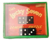 Old Vtg The Lucky Seven Domino Puzzle Made By R. Journet And Co. London England