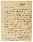 James A Garfield - Rare Letter Signed - On Outcome Of 1880 Presidential Election