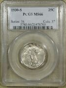 1930 S Standing Liberty Silver Quarter Pcgs Ms66 Nice Coin Some Light Toning