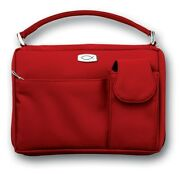 Bible Cover-microfiber W/pockets And Handle-large-red
