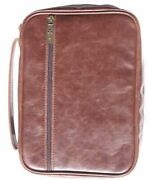 Bible Cover-distressed Leather Look-x Large-brown