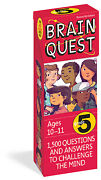 Brain Quest 5th Grade Qanda Cards 1,500 Questions And Answers To Challenge The