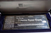 American Express Travelers Cheque Centennial Commemorative Sterling Silver Bar