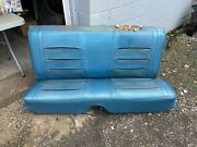 1968 Dodge Charger Back Seat Blue B-5 Could Be Fixed+used B-body Read Below 68