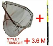 Fishing Catch Net Ultralight Carbon Stainless Steel Portable Triangle 2.1/4m