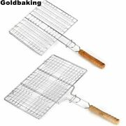 Bbq Grill Basket Stainless Steel Barbecue Tools Mesh Steak Meat Vegetable Fish