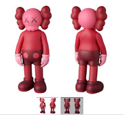 genuine Kaws Human Model And Companion Red Lot Of 2 Figure Shipped From Japan