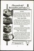 1910s Original Antique Taylor Tycos Thermometer Barometer Art Print Ad