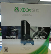 New Xbox 360 E 500gb Call Of Duty Bundle Headset, Game Pad Factory Sealed