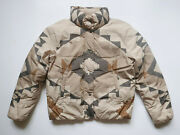 Polo Jacket Puffer Aztec Navajo Indian Down Beige Rare S