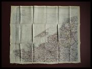 Wwii Royal Air Force Pilots Silk Escape / Evasion Map France Europe D-day 1944