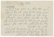 Marc Chagall - Rare Autograph Letter Signed - Prays To God And Supports Israel
