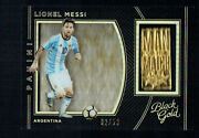 Panini Black Gold Soccer Lionel Messi Man Of The Match Gold 32/50 Argentina
