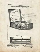Receptacle For Storing And Preserving Paper Patent Print Old Look