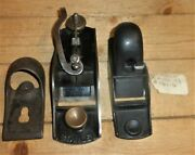 Vintage Stanley No. 9 1/4 And Sargent 106 Hand Planes, Parts, See Photos