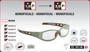 Dioptr. Work Safety Goggles With Visual Acuity 1+ To 3 En166 Uv400 With Collar