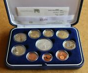 Italian 2011 Official 10 Coin. Set. Proof. With Box