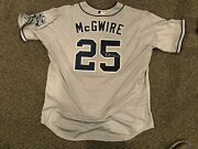 2016 Mark Mcgwire San Diego Padres Flexbase Signed Game Used Jersey Petco 54