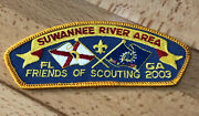 Rare Suwannee River Area Council Srac Bsa Friends Of Scouting Patch 2003