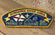 Rare Suwannee River Area Council Srac Bsa Friends Of Scouting Patch 2002