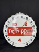 1960's Original 10 2 4 Dr Pepper Bottle Cap Working Thermometer Excellent Cond