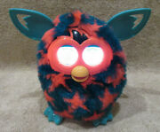 2012 Green Furby Boom Hasbro { Orange Red Stars/blue-green Body} Tested And Works