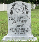 Dear Departed Brother Dave Halloween Tombstone Haunted Mansion Prop Disney