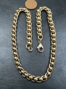 Scarce Vintage 9ct Gold Roller Link Necklace Chain 16 1/2 Inch 1997