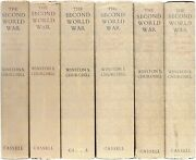 Winston Churchill. 6 Vols The Second World War. All First Editions With Dj's