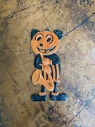 Vintage Germany Halloween Diecut Mickey Mouse Jol Band Member With Saxophone