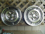 Two Mercury Comet Cyclone Marauder Hubcaps Wheel Covers Center Caps Vintage Ford