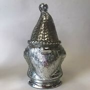 Pottery Barn Gnome Mercury Glass Christmas Candle Winter Woods Nib 9 Sold Out